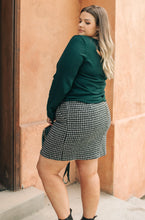 Load image into Gallery viewer, Elly Tweed Skirt in Black