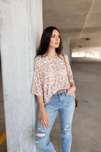 Load image into Gallery viewer, Giraffe Print Bell Sleeve Top