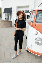 Load image into Gallery viewer, Girl Next Door Jumpsuit In Black