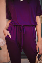 Load image into Gallery viewer, Girl Next Door Jumpsuit In Plum