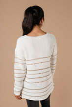 Load image into Gallery viewer, Golden Ticket Striped Sweater