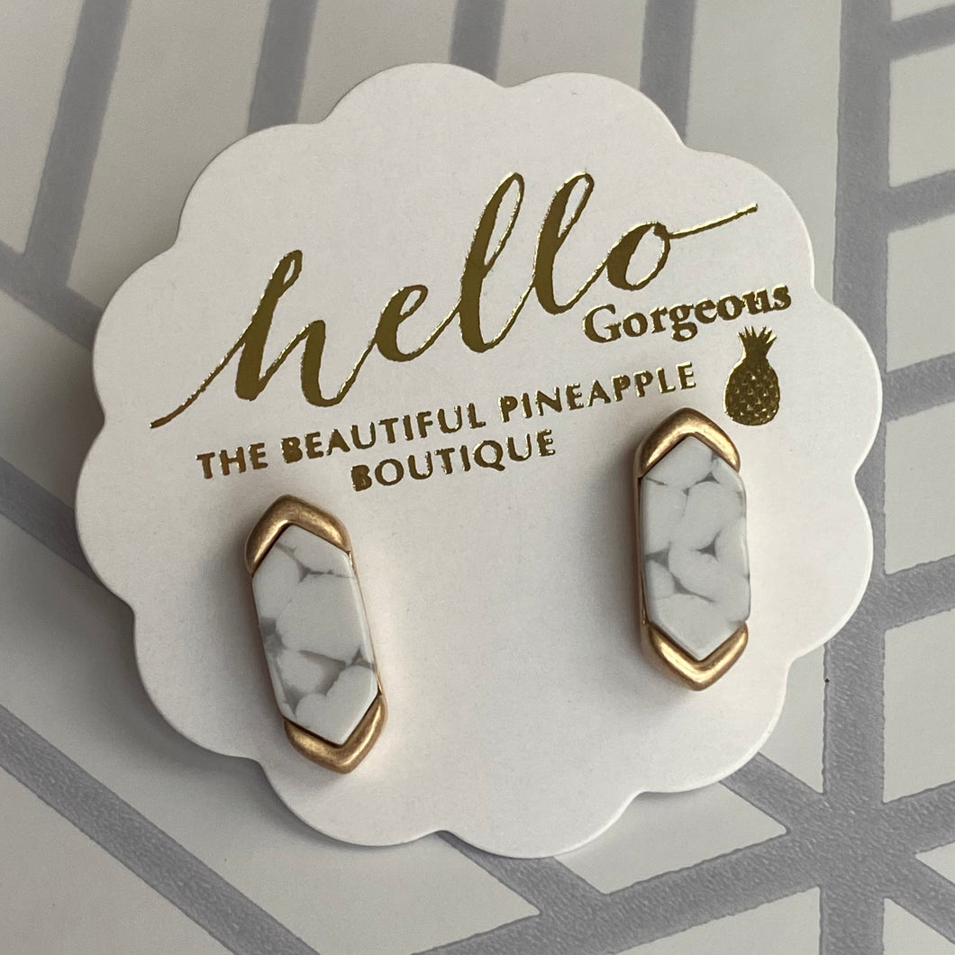 The Perfect Pair Earrings in White