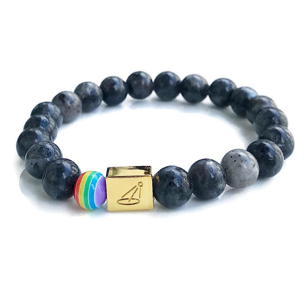 AUTISM ACCEPTANCE BEADED BRACELET - Grey