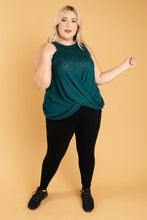 Load image into Gallery viewer, Knotted Hem Tank in Sea Green