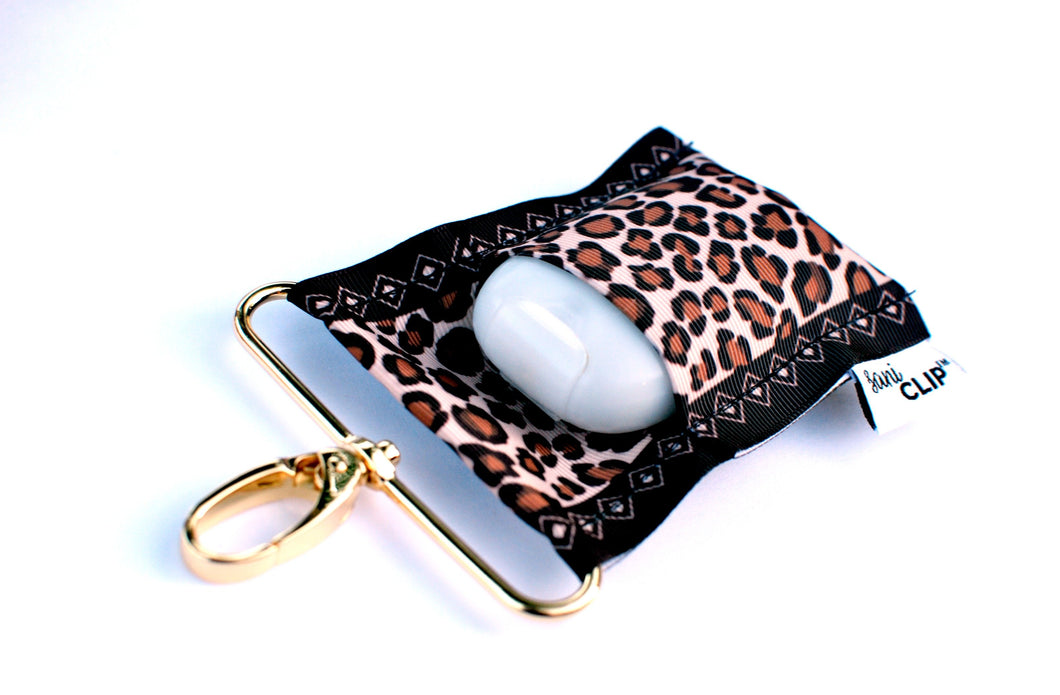 Leopard SaniClip™ Hand Sanitizer Holder
