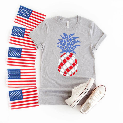 Patriotic Pineapple Graphic Tee