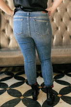 Load image into Gallery viewer, Plaid Peek-A-Boo Jeans