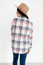 Load image into Gallery viewer, Pretty In Plaid Button-Up Top in Navy