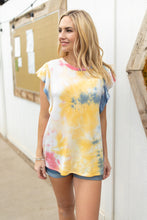 Load image into Gallery viewer, Ruffle Sleeve Tie Dye Top