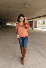 Load image into Gallery viewer, Silky Satin V-Neck Blouse In Bronze