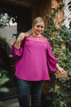 Load image into Gallery viewer, Straight Laced Blouse In Berry
