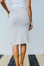 Load image into Gallery viewer, Striped Drawstring Skirt In Gray
