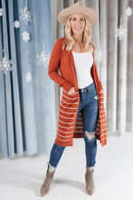 Load image into Gallery viewer, Stripes And Rust Cardigan