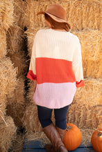 Load image into Gallery viewer, Three Times The Color Sweater in Lavender Combo