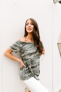 Above & Below Camo Top