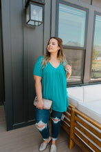 Load image into Gallery viewer, Bamboo Knit Top In Teal