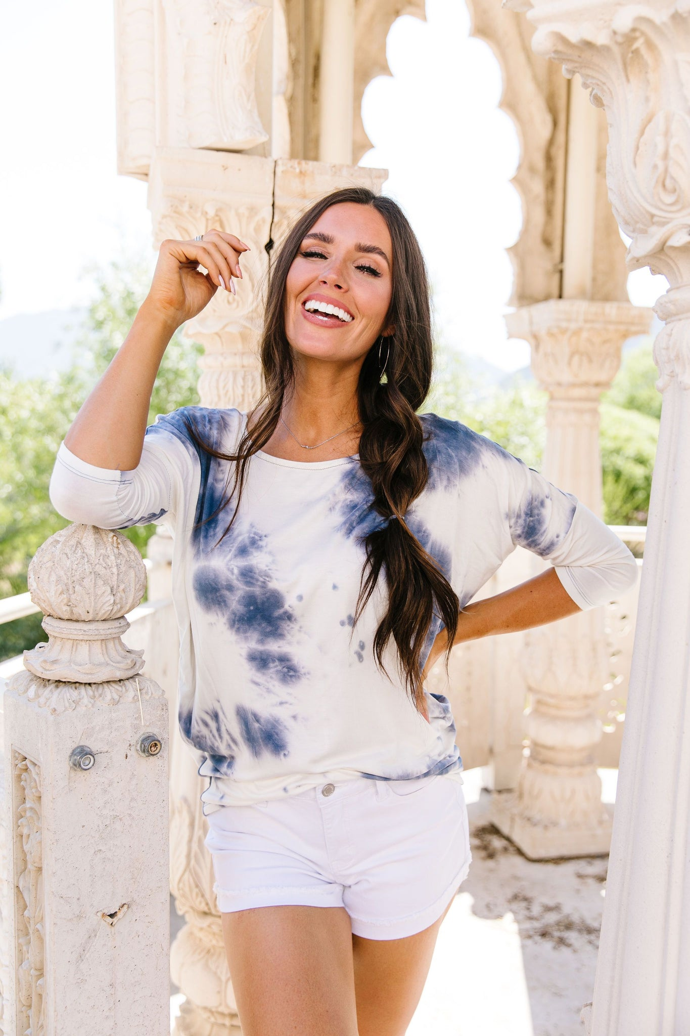 Blueberries & Cream Tie Dye Top