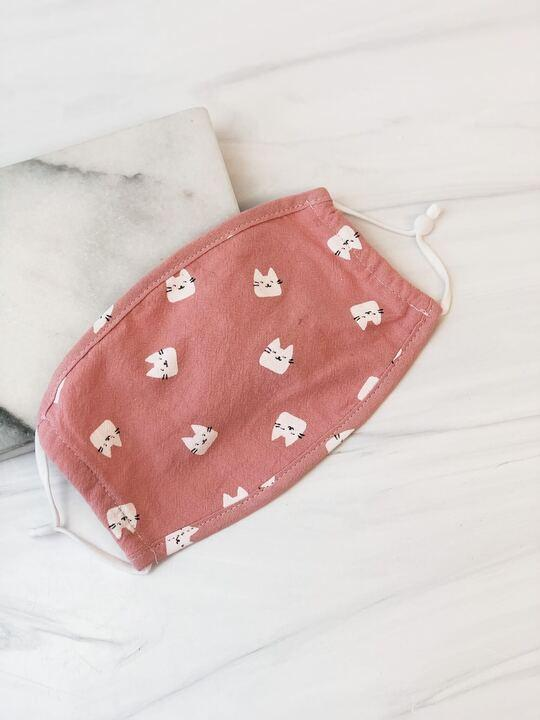 Pink Cats - Kid's Printed Face Mask