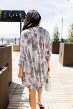 Load image into Gallery viewer, Charcoal & Pink Bamboo Cardi