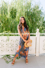 Load image into Gallery viewer, Coral Reef Tie Dye Maxi