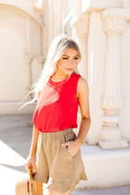 Load image into Gallery viewer, Easy Come Easy Go Sleeveless Blouse In Tomato
