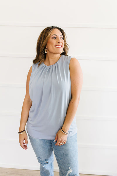 Elaine Elegant Tank In Gray