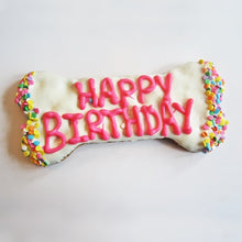 Load image into Gallery viewer, Happy Birthday XL Dog Bone Treat
