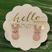 Load image into Gallery viewer, My Favorite Peeps Bunny Stud Earrings