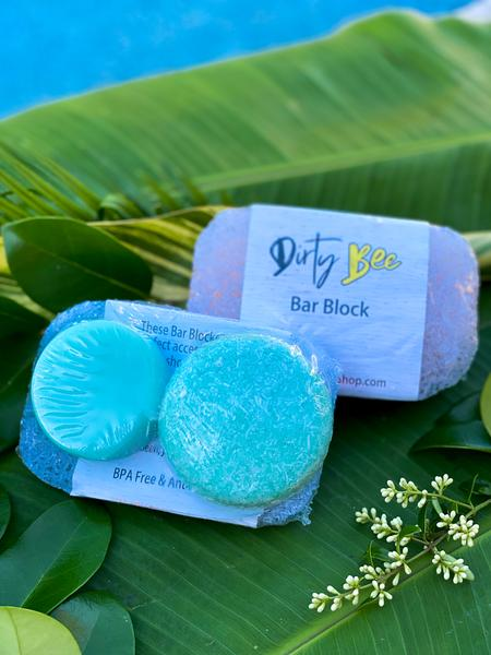 Shampoo & Conditioner Bar Set with Bar Block