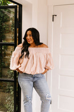 Load image into Gallery viewer, Just Add Sun Off Shoulder Top In Blush