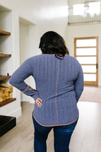 Load image into Gallery viewer, On The Edge Of Spring Top In Slate Blue