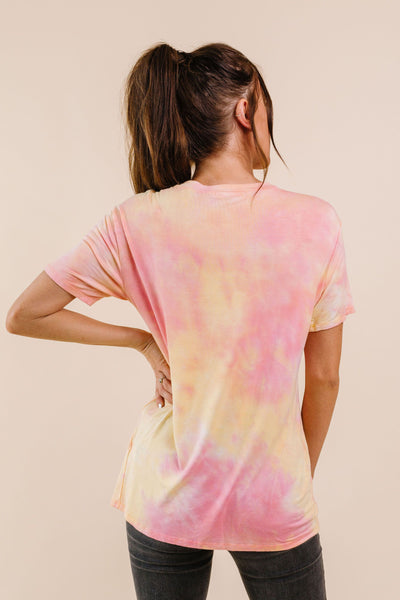Orange Sherbet Tie Dye Top