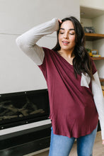 Load image into Gallery viewer, Pure & Simple Raglan Tee In Plum