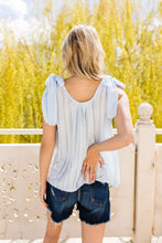Load image into Gallery viewer, Shoulder Tie Tank In Pale Blue