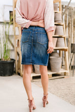 Load image into Gallery viewer, Split The Difference Denim Skirt