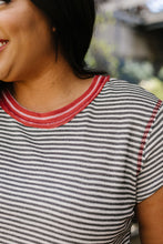 Load image into Gallery viewer, Striped Ringer Tee