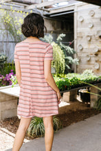 Load image into Gallery viewer, Stripes T-Shirt Dress In Rose