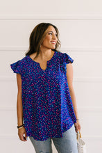 Load image into Gallery viewer, True Blue & Confetti Too Blouse