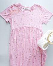 Load image into Gallery viewer, Wee Floral Babydoll Dress In Pink
