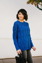 Load image into Gallery viewer, Willing & Able Cable Knit Sweater