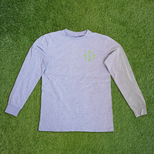 Men's Long Sleeve Shirt - Grey Marle