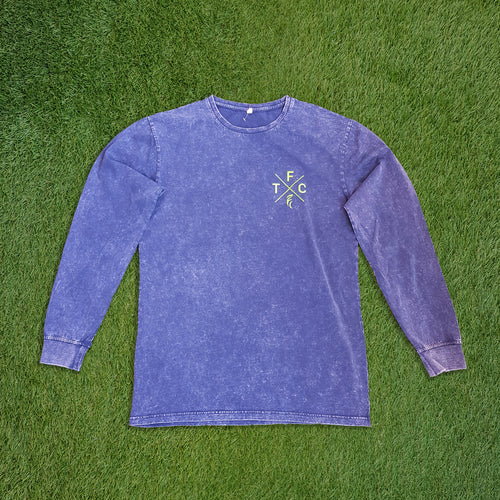 Men's Long Sleeve Shirt - Acid Navy