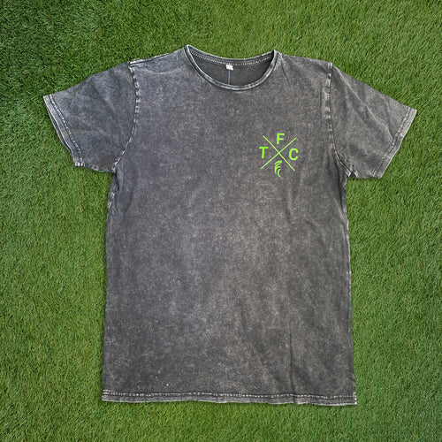 Men's Short Sleeve T-Shirt - Worn Acid Black