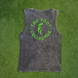 Men's Tank - Worn Acid Black