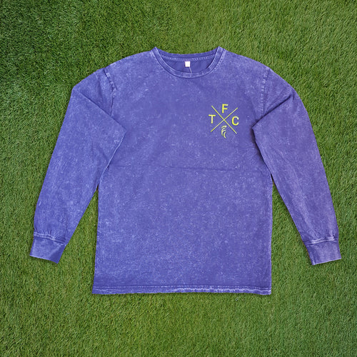 Women's Long Sleeve Shirt - Acid Navy