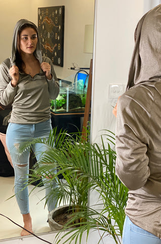 Women's Silver EMF Protection Hoodie