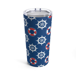 Ship Wheels & Life Savers 20oz Hot/Cold Stainless Tumbler