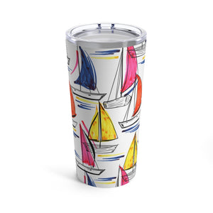 Colorful Sailboats 20oz Hot/Cold Stainless Tumbler