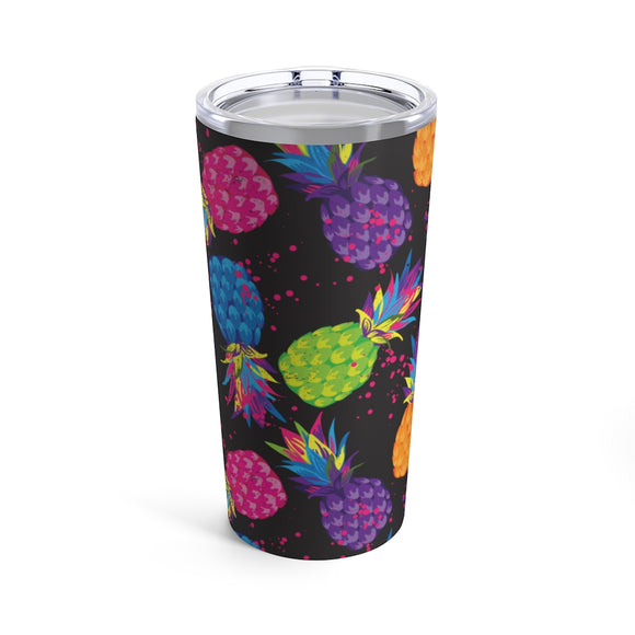 Neon Pineapples 20oz Hot/Cold Stainless Tumbler