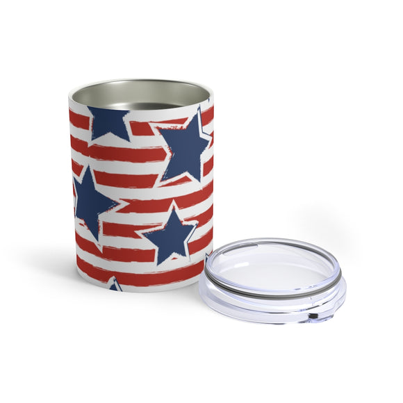 Red White Blue Star 10oz Insulated Tumbler